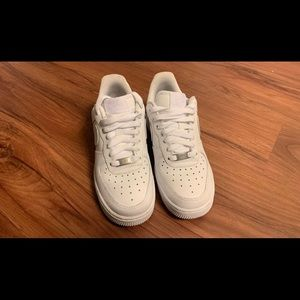 White Air Force 1's | 4.5y (6.5 womens)